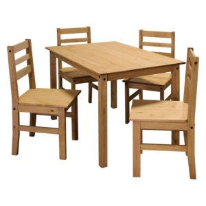 jedálenský stôl a 4 jedálenské stoličky
