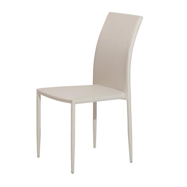 celá stolička je potiahnutá látkovým poťahom v béžovej farbe