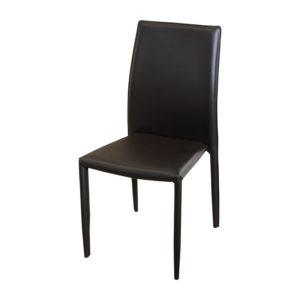 celá stolička je potiahnutá kožou – imitáciou
