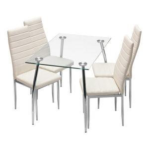 jedálenský stôl GRANADA 3015 a 4 jedálenské stoličky MILÁNO 3009