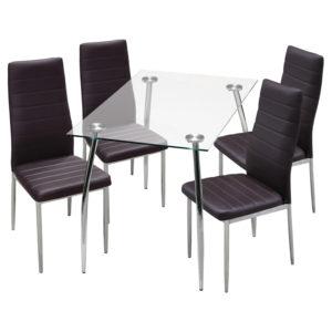 jedálenský stôl GRANADA 3015 a 4 jedálenské stoličky MILÁNO 3010