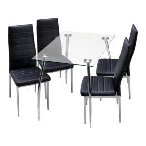 jedálenský stôl GRANADA 3015 a 4 jedálenské stoličky MILÁNO 3008