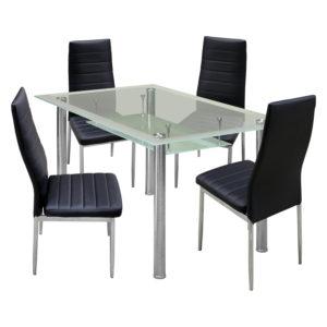 jedálenský stôl VENEZIA 3007 a 4 jedálenské stoličky MILÁNO 3008