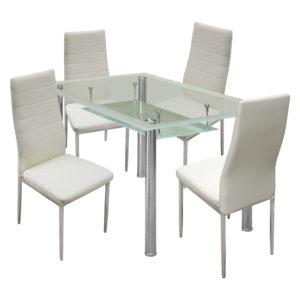 jedálenský stôl VENEZIA 3007 a 4 jedálenské stoličky MILÁNO 3009