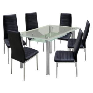 jedálenský stôl VENEZIA 3007 a 6 jedálenských stoličiek MILÁNO 3008