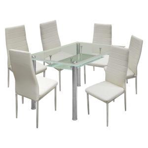 jedálenský stôl VENEZIA 3007 a 6 jedálenských stoličiek MILÁNO 3009