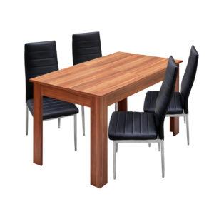 jedálenský stôl 61605 a 4 jedálenské stoličky MILÁNO 3008