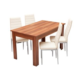 jedálenský stôl 61605 a 4 jedálenské stoličky MILÁNO 3009