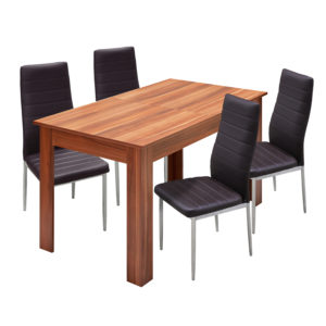 jedálenský stôl 61605 a 4 jedálenské stoličky MILÁNO 3010