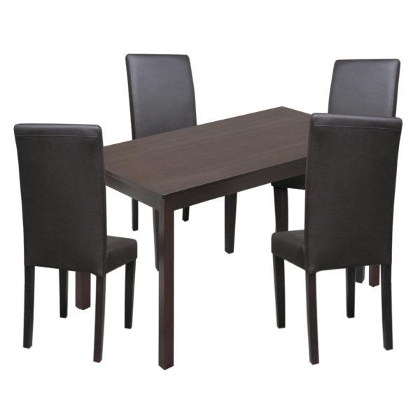 jedálenský stôl 8848H a 4 jedálenské stoličky PRIMA 3035