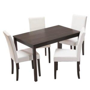 jedálenský stôl 8848H a 4 jedálenské stoličky PRIMA 3036