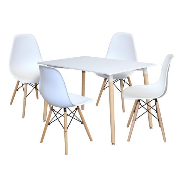 jedálenský stôl UNO 3151 a 4 jedálenské stoličky UNO 3141